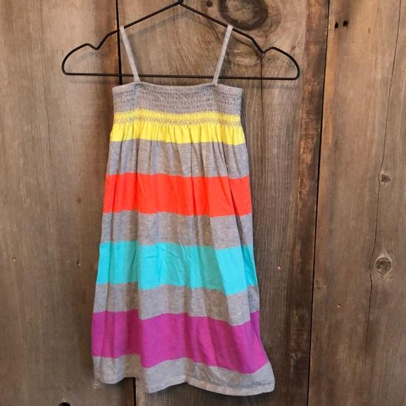 Gap Gray Striped Maxi Sundress Smocked Size 4